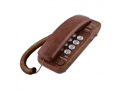 Проводной телефон TeXet TX-226 Коричневый мрамор, вид 1