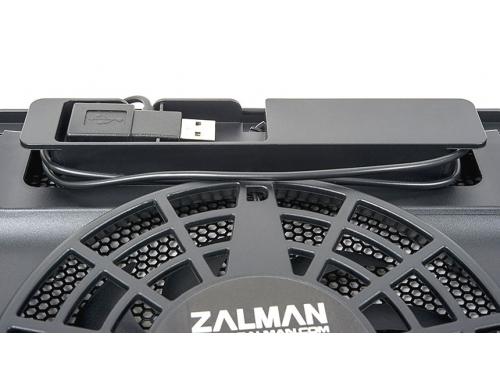 Подставка для ноутбука ZALMAN ZM-NC2 (теплоотводящая подставка, USB), чёрная, вид 6