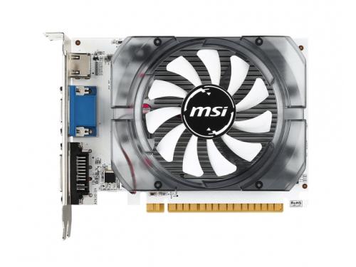 Видеокарта GeForce MSI GeForce GT 730 700Mhz PCI-E 2.0 2048Mb 1800Mhz 128 bit DVI HDMI HDCP (N730-2GD3 V2), белая, вид 1