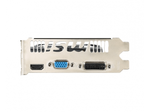 Видеокарта GeForce MSI GeForce GT 730 700Mhz PCI-E 2.0 2048Mb 1800Mhz 128 bit DVI HDMI HDCP (N730-2GD3 V2), белая, вид 3