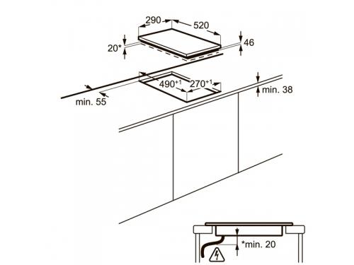 Варочная поверхность Electrolux EHF93320NK, Встраиваемая, вид 5