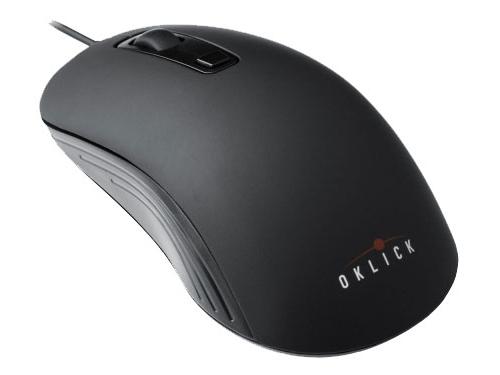 Мышь Oklick 155M Optical mouse, черная / серая, вид 1