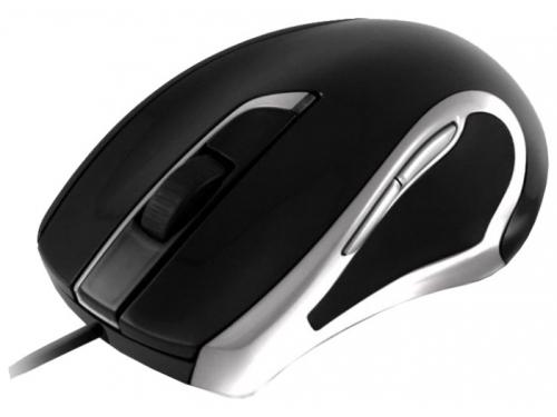 Мышка OKLICK 620 L Optical Mouse Black-Silver USB, вид 2
