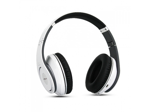 Гарнитура bluetooth CROWN CMBH-9299 (Bluetooth, microSDHC, MP3/WMA, FM), белая, вид 2
