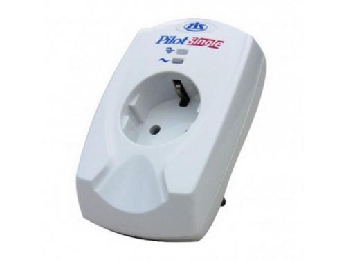 Сетевой фильтр PILOT Single (1 розетка, 3500 VA, заземление), белый, вид 1