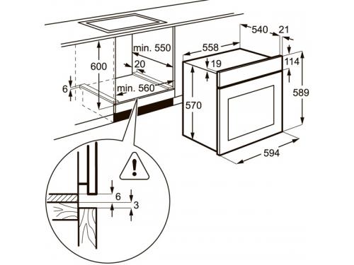 Духовой шкаф Electrolux EZB53430AW, вид 6