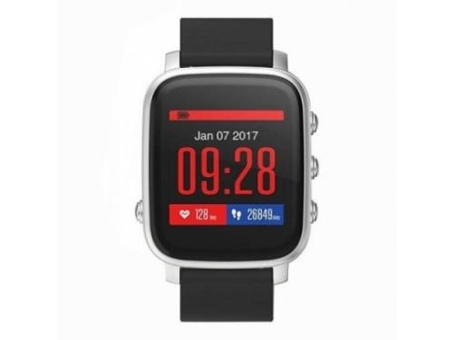 Умные часы SMA Time, серебристо-черные, вид 1