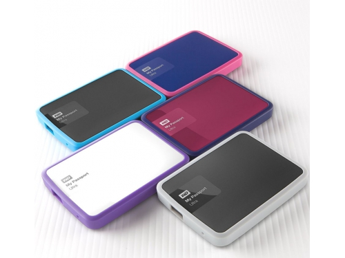 Корпус для жесткого диска WD WDBZBY0000NPM-EASN, бампер (+ кабель), для WD My Passport Ultra 500 и 1000 Гб, малиновый, вид 3