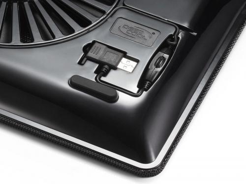 Подставка для ноутбука DEEPCOOL N1 (охлаждающая), чёрная, вид 5