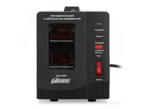 Сетевой фильтр Стабилизатор напряжения PowerMan AVS 1500D 1500VA чёрный, вид 2