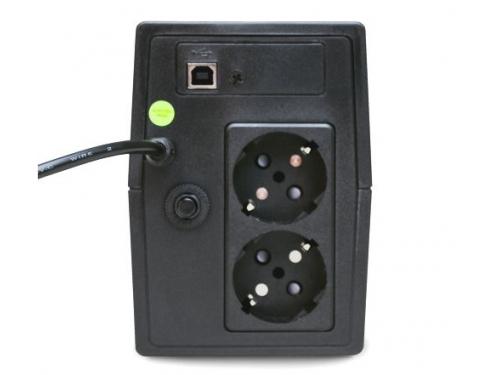 Источник бесперебойного питания Powerman Back Pro Plus 800 BA (интерактивный, 2 розетки, USB), вид 3