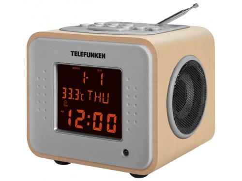 Радиоприемник Telefunken TF-1625U светлое - древесный / оранжевый, вид 1