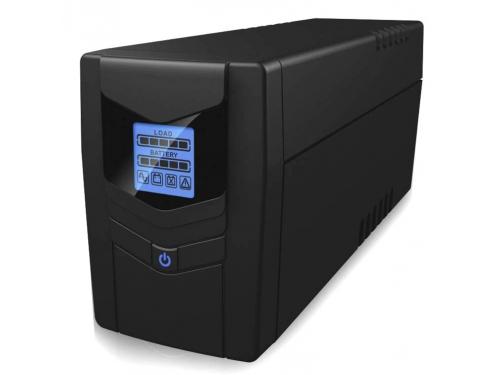 Источник бесперебойного питания Ippon Back Power Pro LCD 600 Euro (360 Вт, 600 ВА), чёрный, вид 1