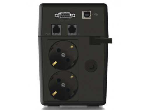 Источник бесперебойного питания Ippon Back Power Pro LCD 600 Euro (360 Вт, 600 ВА), чёрный, вид 3