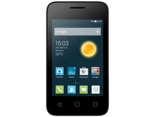 Смартфон ALCATEL ONE TOUCH PIXI 3 (3.5) 4009D Black/Black, вид 1