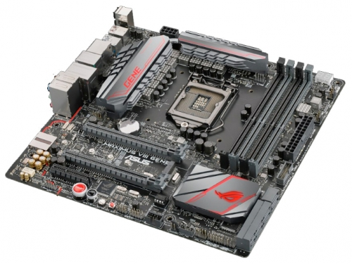 Материнская плата ASUS MAXIMUS VIII GENE Soc-1151 Z170 DDR4 mATX SATA3  LAN-Gbt USB3.1 DP/HDMI, вид 3