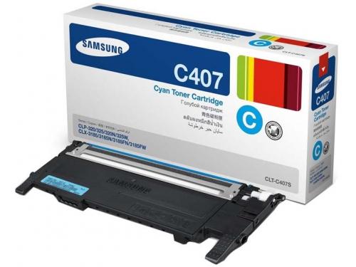 Картридж для принтера Samsung CLT-C407S Cyan, вид 1
