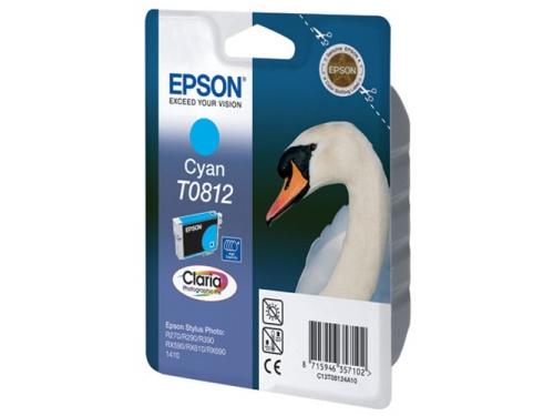 Картридж Epson T0812 Лебедь Cyan, вид 1