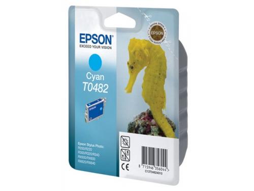 Картридж для принтера Epson T0482 Конёк Cyan, вид 1