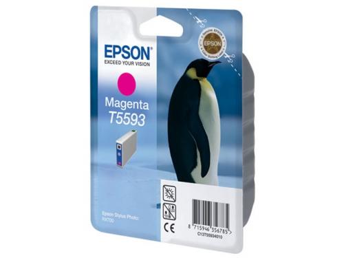 Картридж Epson T5593 пурпурный, вид 1