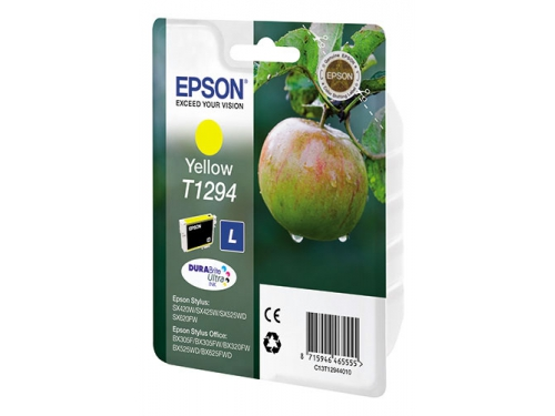 Картридж Epson Т1294 Яблоко Yellow, вид 1