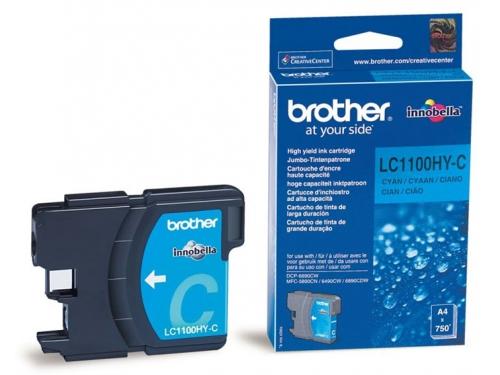 Картридж для принтера Brother LC1100HYC Cyan, вид 1