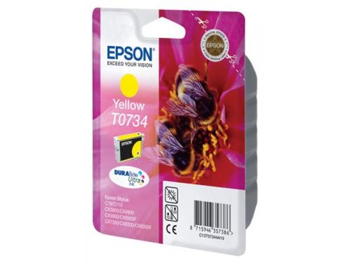 Картридж Epson Т0734 Пчела Yellow, вид 1
