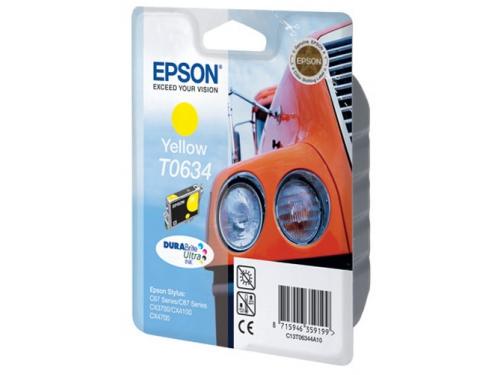 Картридж Epson T0634 Машина Yellow, вид 1