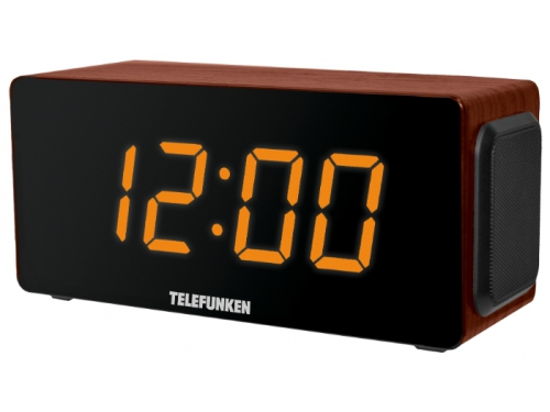Радиоприемник Telefunken TF-1566U коричневое дерево / оранжевый, вид 1