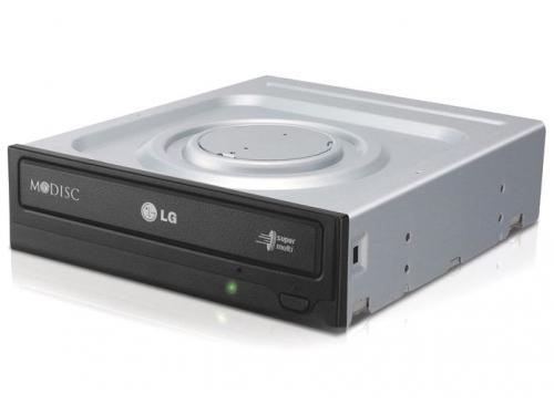 Оптический привод LG GH24NSD0 (SATA, CD-RW / DVD±RW DL / DVD-RAM / DVD M-DISC), чёрный, вид 3