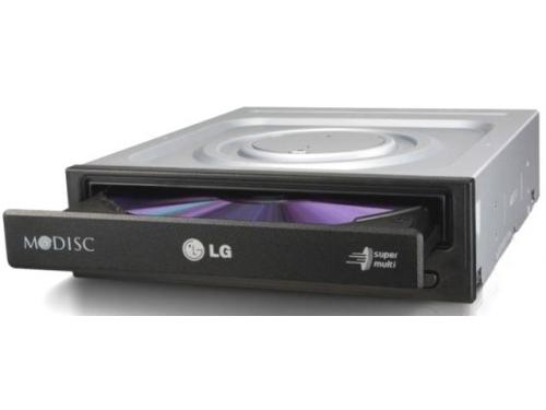 Оптический привод LG GH24NSD0 (SATA, CD-RW / DVD±RW DL / DVD-RAM / DVD M-DISC), чёрный, вид 4