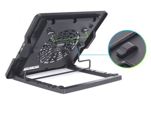 Подставка для ноутбука ZALMAN ZM-NS1000 (охлаждающая, 13'', 2xUSB), чёрная, вид 3