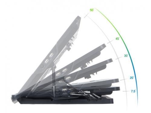 Подставка для ноутбука ZALMAN ZM-NS1000 (охлаждающая, 13'', 2xUSB), чёрная, вид 4