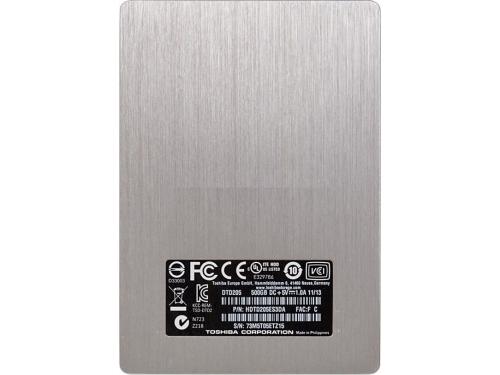 Жесткий диск Toshiba STOR.E SLIM 500GB, серебристый, вид 6