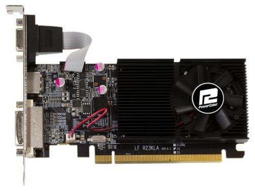 Видеокарта GeForce PowerColor Radeon R7 240 600Mhz PCI-E 3.0 2048Mb 1600Mhz 64 bit DVI HDMI HDCP (AXR7 240 2GBK3-HLE), вид 1