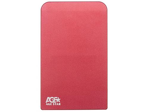 Корпус для жесткого диска AgeStar 3UB2O1 (2.5'', microUSB 3.0), красный, вид 1