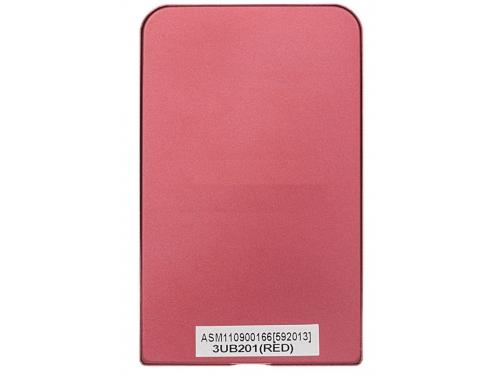 Корпус для жесткого диска AgeStar 3UB2O1 (2.5'', microUSB 3.0), красный, вид 2