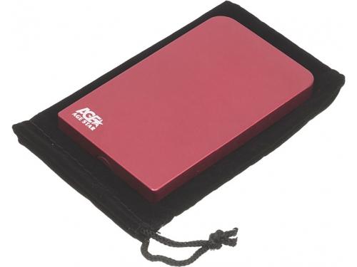 Корпус для жесткого диска AgeStar 3UB2O1 (2.5'', microUSB 3.0), красный, вид 3