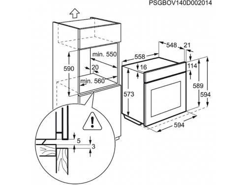 Духовой шкаф Electrolux EOB93311AX, вид 2