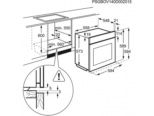 Духовой шкаф Electrolux EOB93410AX, вид 3