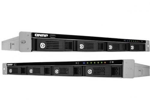 Сетевой накопитель QNAP TS-451U (без дисков, 4 отсека, серверное оборудование, 1U), вид 1