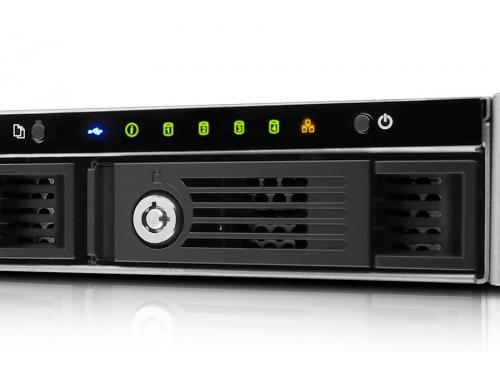 Сетевой накопитель QNAP TS-451U (без дисков, 4 отсека, серверное оборудование, 1U), вид 2