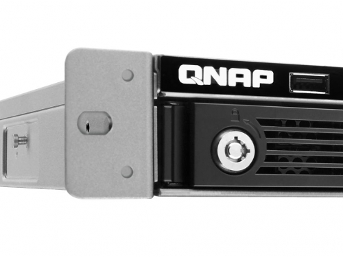 Сетевой накопитель QNAP TS-451U (без дисков, 4 отсека, серверное оборудование, 1U), вид 3