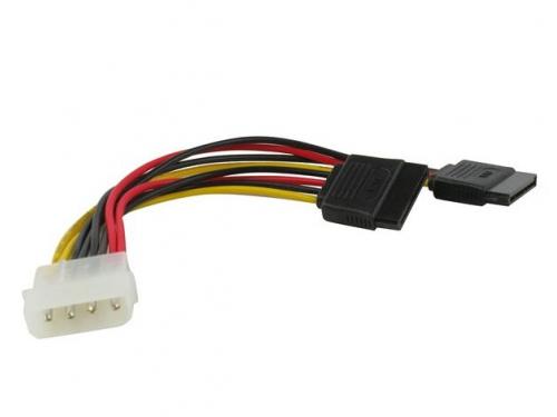 Кабель (шнур) VCOM Molex(M) — 2 x Power SATA(F) (VPW7572), 15 см, вид 1