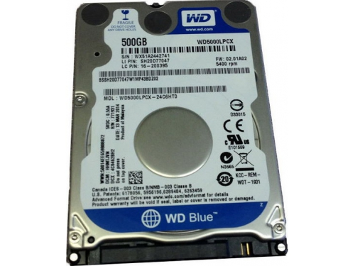 Жесткий диск Western Digital WD5000LPCX 500GB BLUE 7MM, SATA 6 GB/S 16MB, вид 2