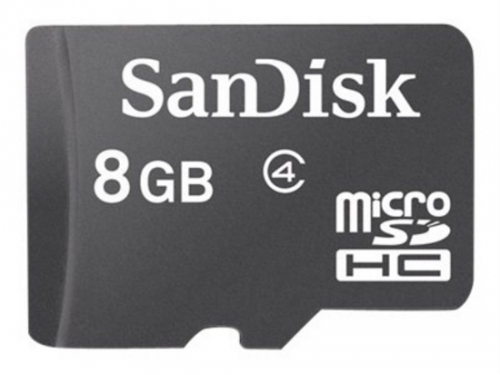 ����� ������ Sandisk microSDHC Card 8GB Class 4, ��� 1