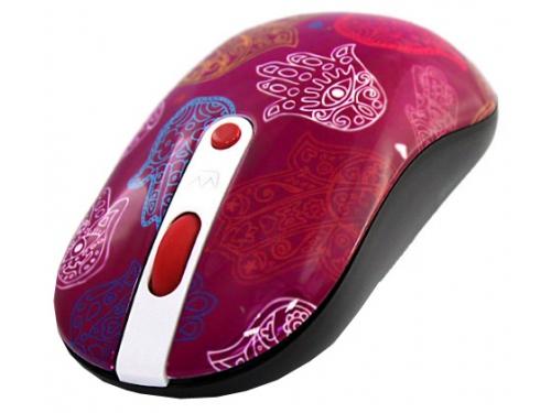 Мышка CROWN CMM-926W Hand Pink USB (радиоканал, 2xAAA), вид 2
