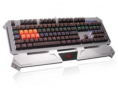 Клавиатура A4Tech B740A USB, серебристо-чёрная, вид 1