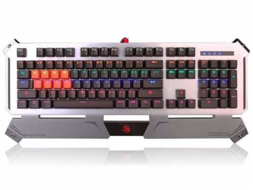 Клавиатура A4Tech B740A USB, серебристо-чёрная, вид 2