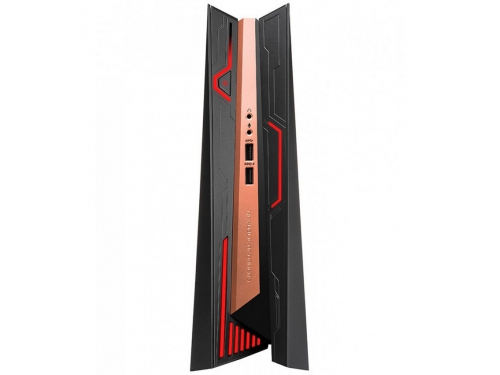 Фирменный компьютер Asus ROG GR8 II-T031Z (Core i7 7700/16Gb/1256Gb HDD+SSD/DVD нет/NVIDIA GeForce GTX 1060 3Gb/Wi-Fi/Bluetooth/Win 10 Home), чёрно-золотистый, вид 2